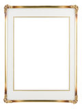 Frame. Metallic photo frame isolated on a white background Stock Images