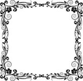 Frame. Silhouette frame with floral ornaments Royalty Free Stock Image