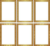 Frame. Set of golden frame with ornaments Royalty Free Stock Image