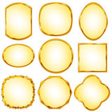 Frame. Illustration gold frame with no background Royalty Free Stock Images