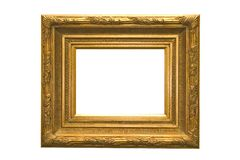 Frame. Antique frame isolated on a white background Royalty Free Stock Photo