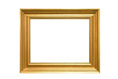 Frame. Antique frame isolated on a white background Royalty Free Stock Image