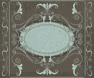 Frame. Design of a  background in vintage style Stock Image