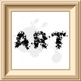 Frame. Vector frame with splashy font, typography Stock Photo