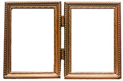 Frame. Golden retro frame, with hinge Royalty Free Stock Images