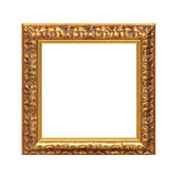 Frame. Golden frame isolated on white with clipping path Royalty Free Stock Photos