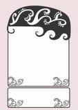 Frame. A illustration of a vintage frame royalty free illustration