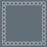 frame 3d branco no estilo árabe Fotos de Stock