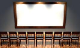 frame 3d retro com cadeiras antiquados Imagem de Stock