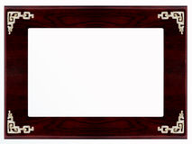 FRAME 4:3. PHOTO FRAME WITH COPPER DECORATION Royalty Free Stock Photo