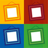 Frame 4 colors. The frame for the picture or pictures hanging on the wall Royalty Free Stock Photography