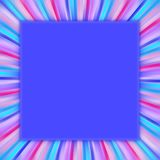 Frame. Colorful frame in blue red and pink royalty free illustration