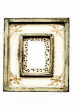 Frame. Ornamental vintage wooden frame, isolated Royalty Free Stock Photos