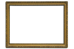 Frame. An old golden frame on white background with clipping path Stock Photo