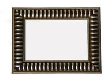 Frame. Silver frame isolated on white background Royalty Free Stock Photos