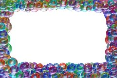Frame. A frame of colors bubbles royalty free illustration