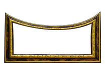 Frame. Empty distorted funny frame on white background. Digital artwork Royalty Free Stock Images