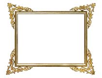 Frame. Golden old frame, the background Stock Image