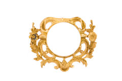 Frame. Old  gilded frame.Very good for pictures and photos Stock Images