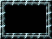 Frame. Checker pattern metallic style picture frame Stock Photos