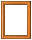 Frame. Empty picture wooden frame on a white background stock illustration