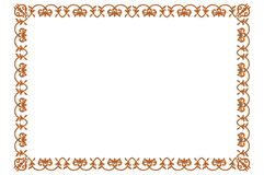 Frame. Decorative border for photographs and any arts Stock Images