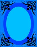 Frame. In blue vector illustration