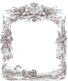 Old Awards Frame Royalty Free Stock Image