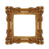 Frame. Gold plated wooden picture frame isolated on white Royalty Free Stock Photography