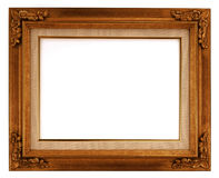 Frame. Wooden picture frame on white background Royalty Free Stock Photo