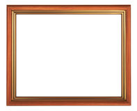 Frame. Wooden picture frame on white background Stock Image