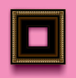 Frame. On a pink background Royalty Free Stock Photography