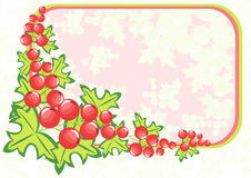 Frame from abstract berries Stock Images