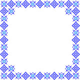 Frame, abstract blue patterns Royalty Free Stock Photo