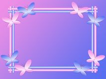 Frame with abstract butterflies Stock Photography