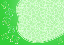 Frame with abstract butterflies. Green frame with abstract butterflies and dot backdrop pattern Royalty Free Stock Photo