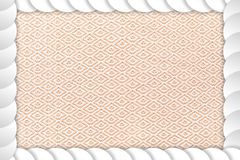 Frame abstract circle with lace fabric center background. Royalty Free Stock Photo