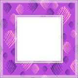 Ultra violet border-01. Frame with abstract hand background. Design element for photo frames and home decor stock illustration