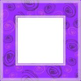 Ultra violet border-07. Frame with abstract hand background. Design element for photo frames and home decor stock illustration