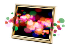 Frame with abstract light Stock Photos