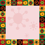 Frame with abstract pattern in African style. Frame with a abstract pattern in African style Stock Photo