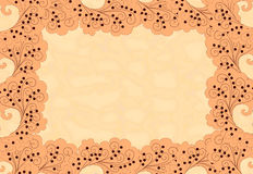 Frame with abstract  polka dots on a mottled backg Royalty Free Stock Photo