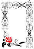 Frame with abstract rose Royalty Free Stock Photography