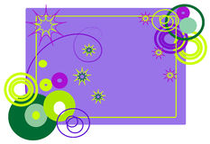 The frame of abstract shapes. Illustration frame of abstract shapes Royalty Free Illustration