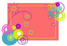 The frame of abstract shapes. Vectors illustration. The frame of abstract shapes Vector Illustration