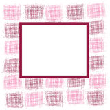 Frame with abstract squares Stock Photos