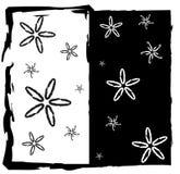 Frame abstrato branco preto Ilustração Stock
