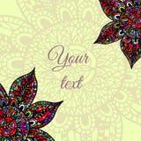 Frame abstrato da flor Projeto da flor do molde para o cartão Ilustração Stock