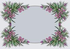 Frame abstrato das flores Imagens de Stock Royalty Free