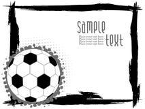 Frame abstrato do grunge com futebol Fotografia de Stock